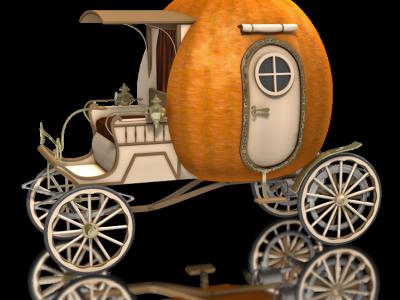 Pumpkin Coach Going To Destination