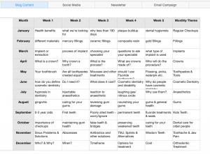 Editorial Calendar for Blog