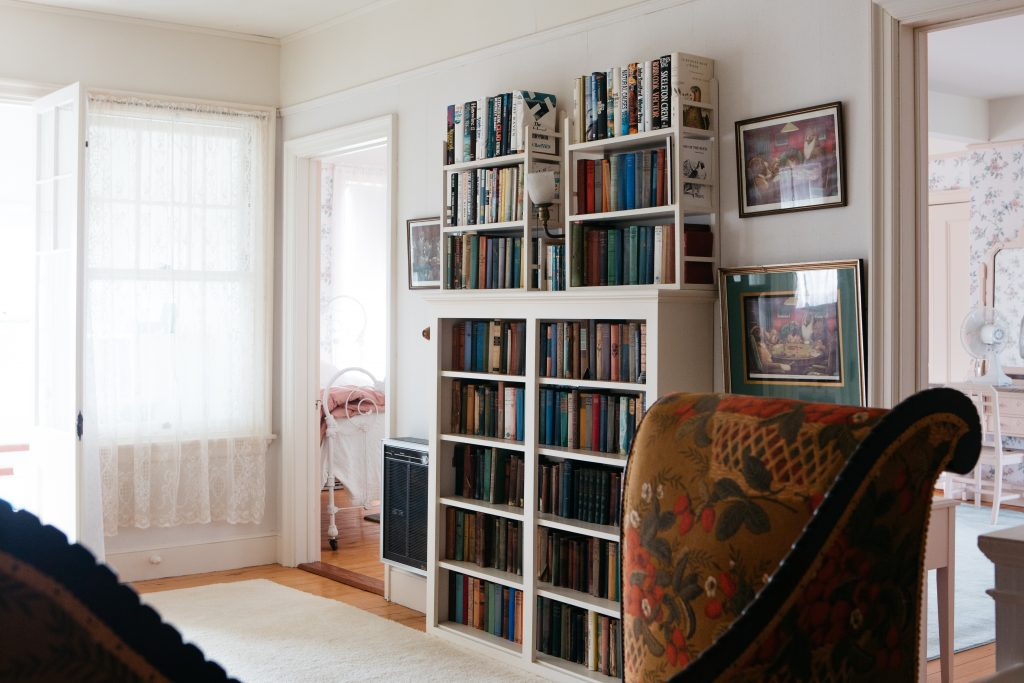 Book on a shelf at home get read, books in your garage don't.