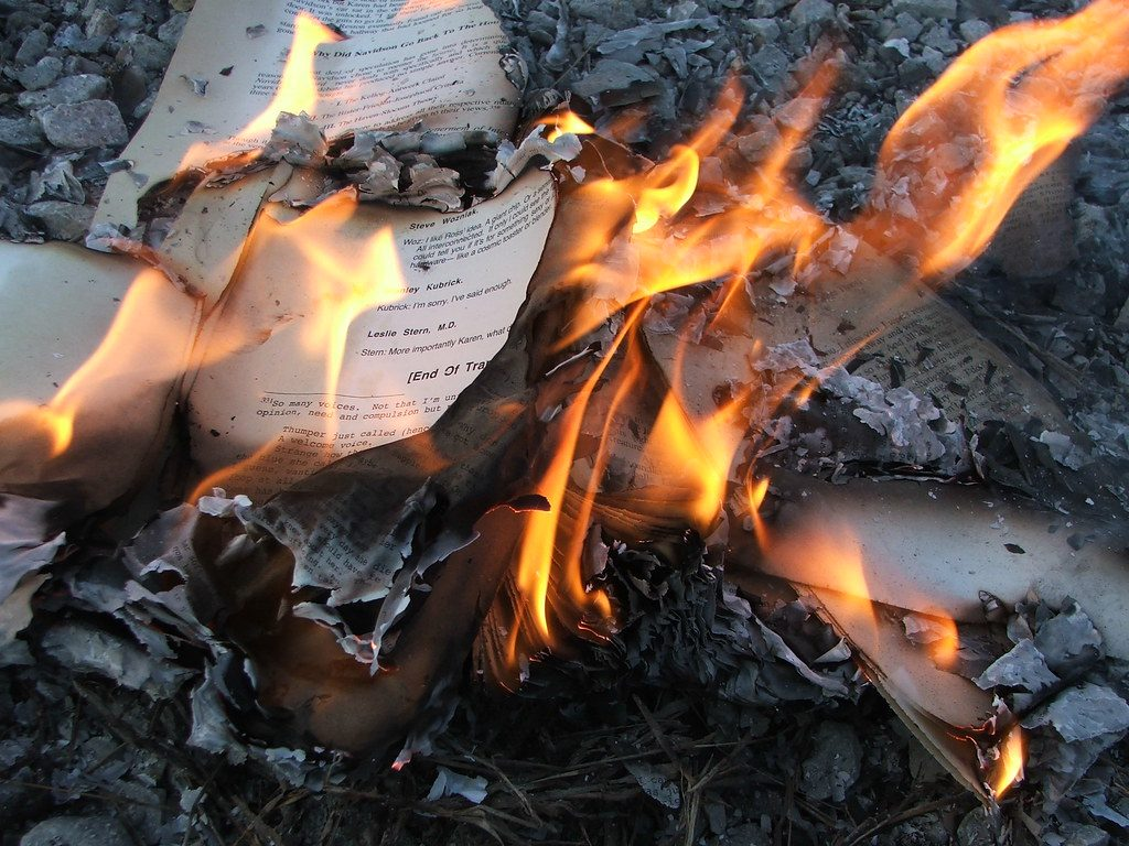 It's hard to destroy real books effectively.